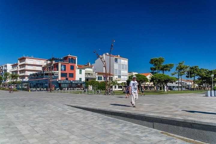 De boulevard van Argelès-sur-Mer