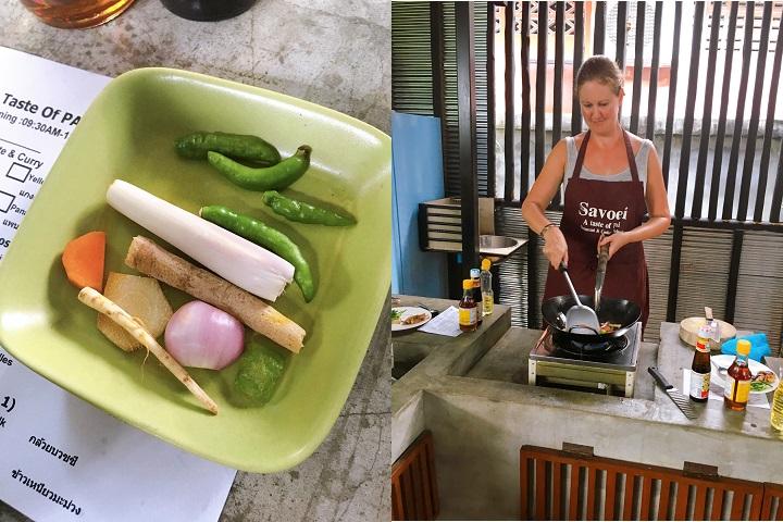 Ingredienten groene curry